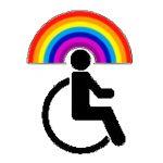 logo rolli mit regenbogen